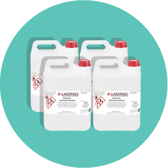 Bidon de solution hydroalcoolique x4