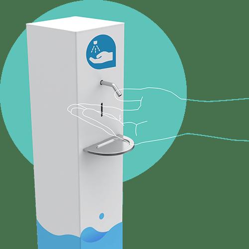 distributeur gel hygie nano